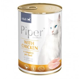 Piper Animals Cat Adult Whit Chicken /Храна За Израснали Котки с Пилешко Месо/-400гр