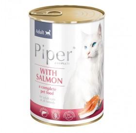 Piper Animals Cat Adult Whit Salmon /Храна За Израснали Котки Със Сьомга/-400гр