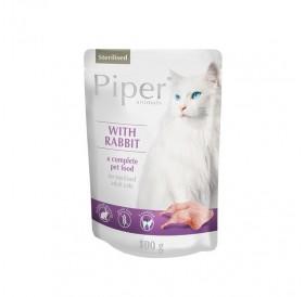 Piper Animals Cat Sterilised Whit Rabbit /храна за кастрирани котки със заешко месо/-100гр