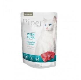 Piper Animals Cat Sterilised Whit Tuna /храна за кастрирани котки с риба тон/-100гр