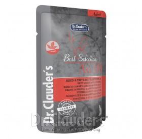 Dr.Clauder's Best Selection №8 Adult Beef&Duck with Potatoes /храна за израснали котки с говеждо,патица и картофи/-85гр