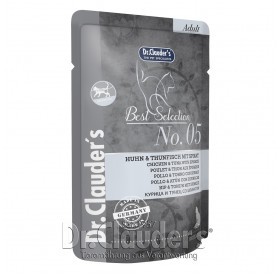 Dr.Clauder's Best Selection №5 Adult Chicken&Tuna with Spinach /храна за израснали котки с пиле,риба тон и спанак/-85гр