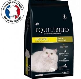 Equilíbrio Adult Cats Long Hair Skin&Hair Coat /храна за израснали котки дългокосмести породи/-7,5кг