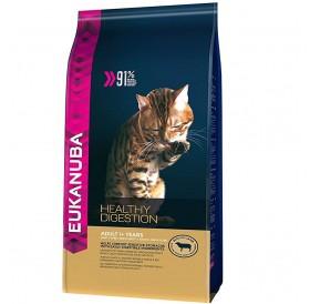 Eukanuba Healthy Digestion Rich In Lamb /Храна За Израснали Котки С Чувствителна Храносмилателна Система с Агнешко Месо/-4кг