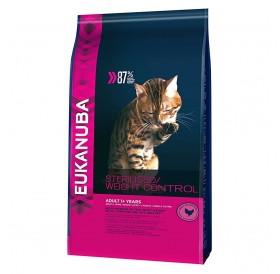 Eukanuba Sterilised Cats/Weight Control Rich In Chicken /Храна За Израснали Кастрирани И Котки С Наднормено Тегло/-3кг