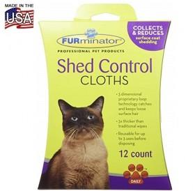 FURminator Shed Control Cloths for Cats /мокри кърпички за почистване на козината/-12бр