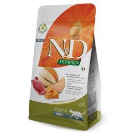 N&D Cat Adult Pumpkin Duck&Cantaloupe /Пълноценна Храна За Израснали Котки С Патица Тиква И Пъпеш/-300гр