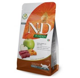 N&D Cat Adult Pumpkin Venison&Apple /пълноценна храна за израснали котки с еленско месо тиква и ябълка/-300гр