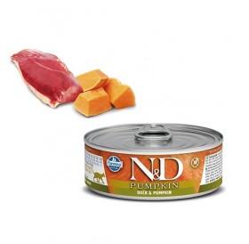 N&D Cat Grain Free Pumpkin Adult Duck&Pumpkin Wet Food /пълноценна храна за израснали котки с патица и тиква/-80гр