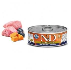 N&D Cat Grain Free Pumpkin Adult Lamb&Blueberry Wet Food /пълноценна храна за израснали котки с агне тиква и боровинки/-80гр