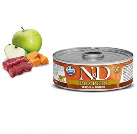 N&D Cat Grain Free Pumpkin Adult Venison&Pumpkin Wet Food /пълноценна храна за израснали котки с еленско месо и тиква/-80гр