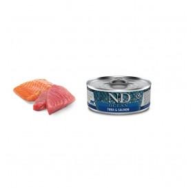 N&D Ocean Cat Adult Tuna&Salmon Wet Foods /пълноценна храна за котки с риба тон и сьомга/-80гр