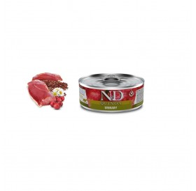 N&D Cat Adult Quinoa Urinary Duck Wet Food /пълноценна храна за израснали котки с уринарни проблеми с патешко месо киноа червена боровинка и лайка/-80гр