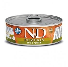 N&D Cat Adult Pumpkin Duck&Pumpkin Wet Food /пълноценна храна за израснали котки с патица и тиква/-80гр