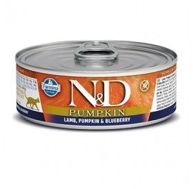 N&D Cat Adult Pumpkin Lamb&Blueberry Wet Food /пълноценна храна за израснали котки с агне тиква и боровинки/-80гр