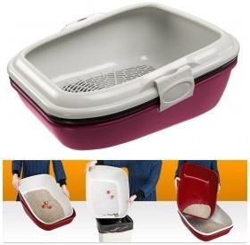 Ferplast Birba /котешка тоалетна с борд и сито/-55,5x45,5x22см