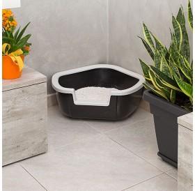 Ferplast Dama /ъглова котешка тоалетна с борд/-57,5x51,5x22см