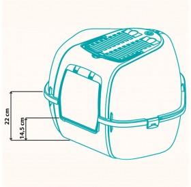 Ferplast Mika /закрита ъглова котешка тоалетна с филтър/-57,5x51,5x42см