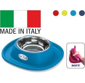 Georplast Soft Touch Inox Small /метална купа за хранене с гумена поставка/-20x20x3,5см