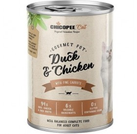 Chicopee Cat Adult Duck&Chicken /храна за израснали котки с патешко и пилешко месо/-400гр