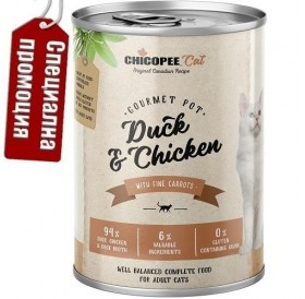Chicopee Cat Adult Duck&Chicken /храна за израснали котки с патешко и пилешко месо/-6х400гр