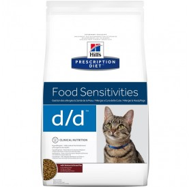 Hill's Prescription Diet™ d/d™ Feline Venison&Green Pea /Диетична Храна За Котки Подсилваща Кожната Бариера/-1,5кг