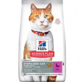 Hill's Science Plan™ Young Adult Sterilised Cat Duck /Храна За Млади Кастрирани Котки С Патешко Месо/-300гр