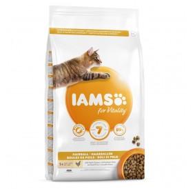 IAMS For Vitality Adult Cat Food Hairball Reduction With Fresh Chicken /Храна За Израснали Котки Против Образуване На Космени Топки С Прясно Пилешко Месо/-10кг