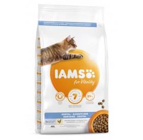 IAMS For Vitality Dental Cat Food With Fresh Chicken /Храна За Израснали Котки За Намаляване Образуването На Зъбен Камък Прясно Пилешко Месо/-10кг