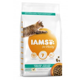 IAMS For Vitality Light In Fat Cat Food With Fresh Chicken /Храна За Кастрирани Котки С Прясно Пилешко Месо/-10кг