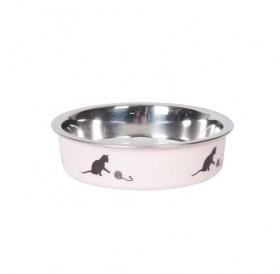 Karlie Flamingo Cat Bowl Bella /метална купа с гумена основа/-Ø10см