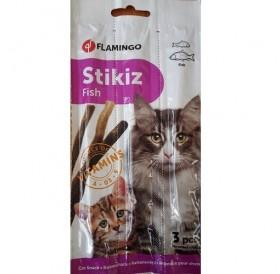 Flamingo Stikiz Fish /саламени пръчици за котки с риба/-3бр
