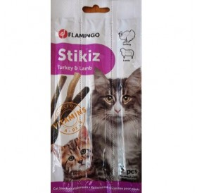 Flamingo Stikiz Chicken and Liver /саламени пръчици за котки с пилешко месо и дроб/-3бр