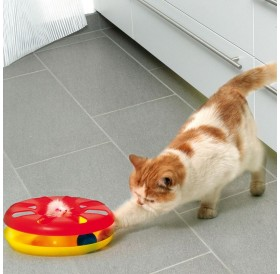 Karlie Kitty Round About /Играчка За Коте Кръг С Топка И Мишка/-Ø24см