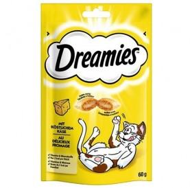 Dreamies™ Cheese /лакомства за котка хрупкави хапки с мек пълнеж с вкус на сирене/-60гр