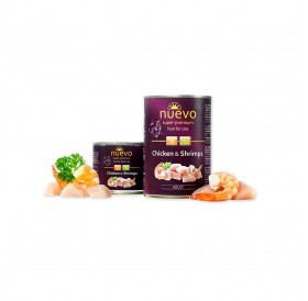 Nuevo Adult Chicken&Shrimps /храна за израснали котки с пилешко месо и скариди/-400гр
