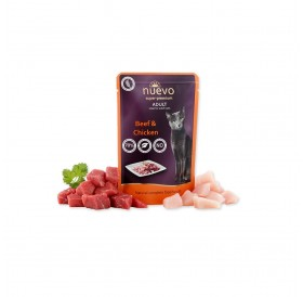 Nuevo Pouch Adult Beef&Chicken /храна за израснали котки с говеждо и пилешко месо/-85гр