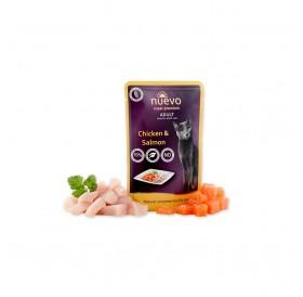 Nuevo Pouch Adult Chicken&Salmon /храна за израснали котки с пилешко месо и сьомга/-85гр