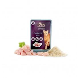Nuevo Pouch Sterilized Chicken&Rice /храна за кастрирани котки с пилешко месо и ориз/-85гр