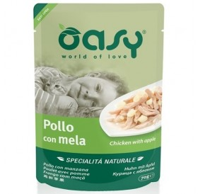 Oasy® Natural Specialties Chicken with Apple /храна за котки с пилешко месо и ябълка/-70гр