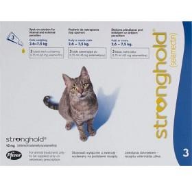 Stronghold 45mg spot on /обезпаразитяващи пипети за котки от 2,5 до 7,5кг/-3бр