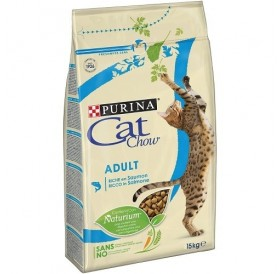 Purina® Cat Chow® Adult Salmon /храна за израснали котки с месо от сьомга/-15кг