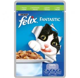 Felix Fantastic Adult With Rabbit In Jelly /Храна За Израснали Котки Със Заешко Месо В Желе/-100гр