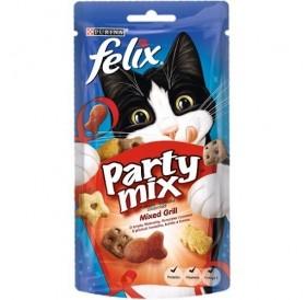 Purina® Felix® Party Mix Mixed Grill /лакомства за израснали котки с различни вкусове/-60гр