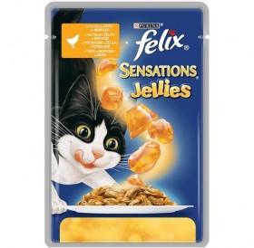 Felix Sensations Jellies Adult With Chicken&Carrot /Храна За Израснали Котки С Пилешко Месо И Моркови В Желе/-100гр
