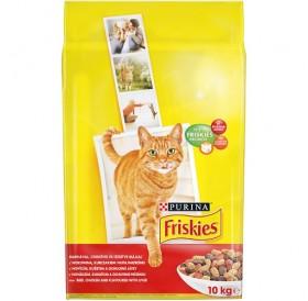 Purina® Friskies® Adult Meats /храна за израснали котки с различни видове месо черен дроб и зеленчуци/-10кг