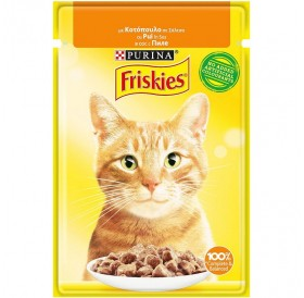 Friskies Adult With Chicken In Sauce /Храна За Израснали Котки С Пилешко Месо В Сос/-85гр