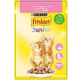 Friskies Junior With Chicken In Sauce /Храна За Подрастващи Котенца С Пилешко Месо В Сос/-85гр