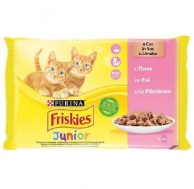 Friskies Junior With Chicken In Sauce /Храна За Подрастващи Котенца С Пилешко Месо В Сос/-4х85гр