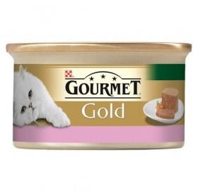 Purina Gourmet Gold Chunks In Pate Lamb&Duck /Храна За Израснали Котки Хапки В Пастет С Агнешко И Патица/-85гр